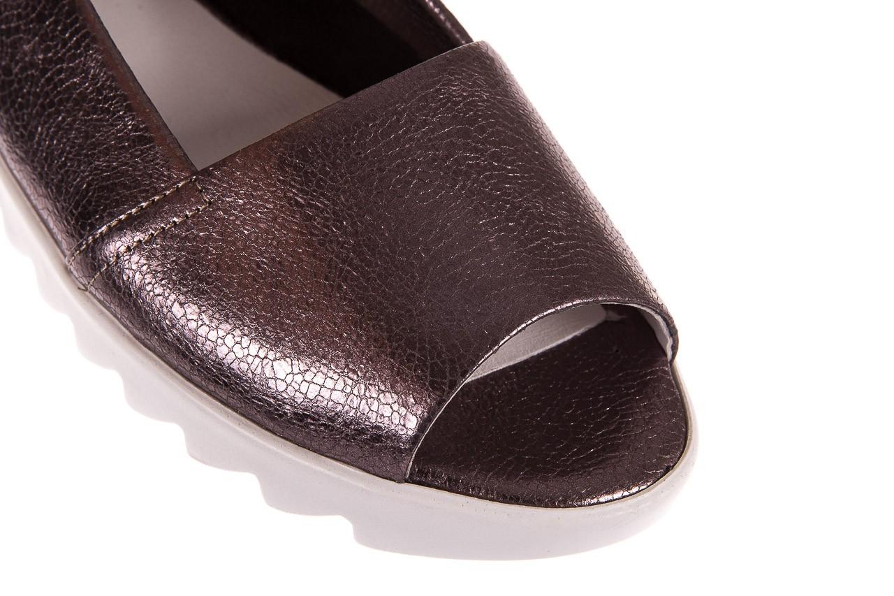 Sandały bayla-163 319-310 627 grey metallic, szary, skóra naturalna 11
