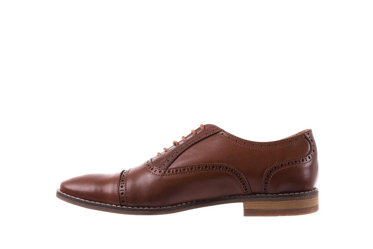 Półbuty bayla-166 m523bb brąz 166001, skóra naturalna - obuwie wizytowe - buty męskie - mężczyzna 10