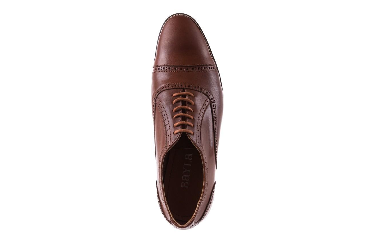 Półbuty bayla-166 m523bb brąz 166001, skóra naturalna - obuwie wizytowe - buty męskie - mężczyzna 12