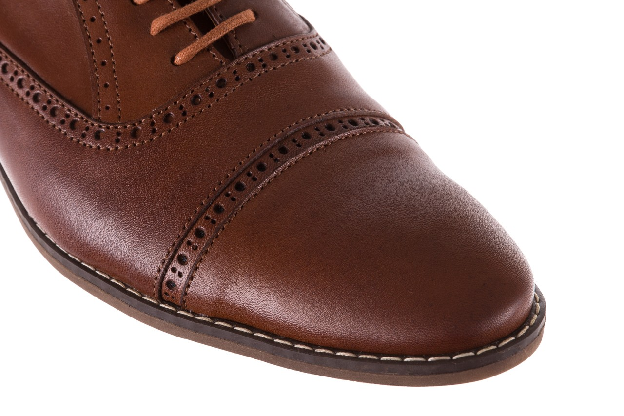 Półbuty bayla-166 m523bb brąz 166001, skóra naturalna - obuwie wizytowe - buty męskie - mężczyzna 13