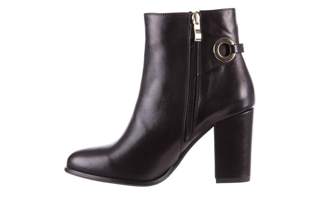 Botki bayla-170 2136 czarne botki, skóra naturalna  - skórzane - botki - buty damskie - kobieta 8