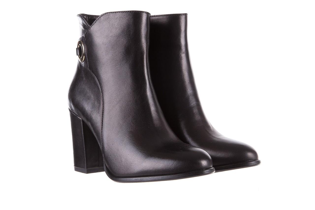 Botki bayla-170 2136 czarne botki, skóra naturalna  - skórzane - botki - buty damskie - kobieta 7