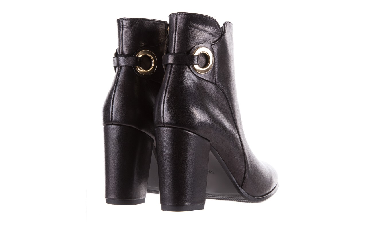 Botki bayla-170 2136 czarne botki, skóra naturalna  - skórzane - botki - buty damskie - kobieta 9