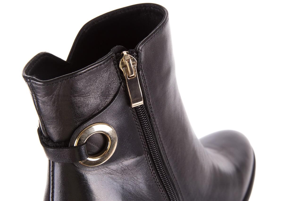 Botki bayla-170 2136 czarne botki, skóra naturalna  - skórzane - botki - buty damskie - kobieta 11