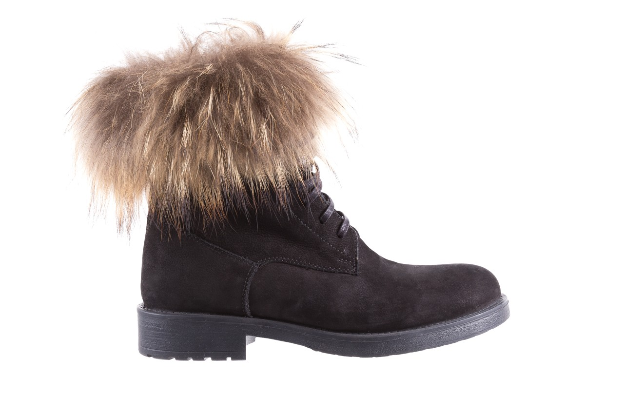 Trzewiki bayla-164 top 17 black 164005, czarny, skóra naturalna  - worker boots - trendy - kobieta 7