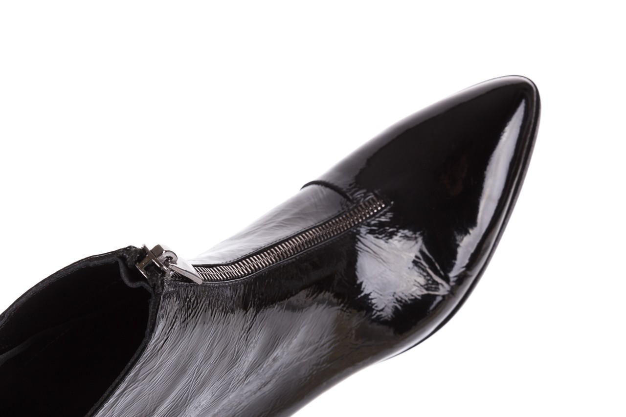 Botki bayla-177 b19118 czarne botki, skóra naturalna lakierowana - sale 16
