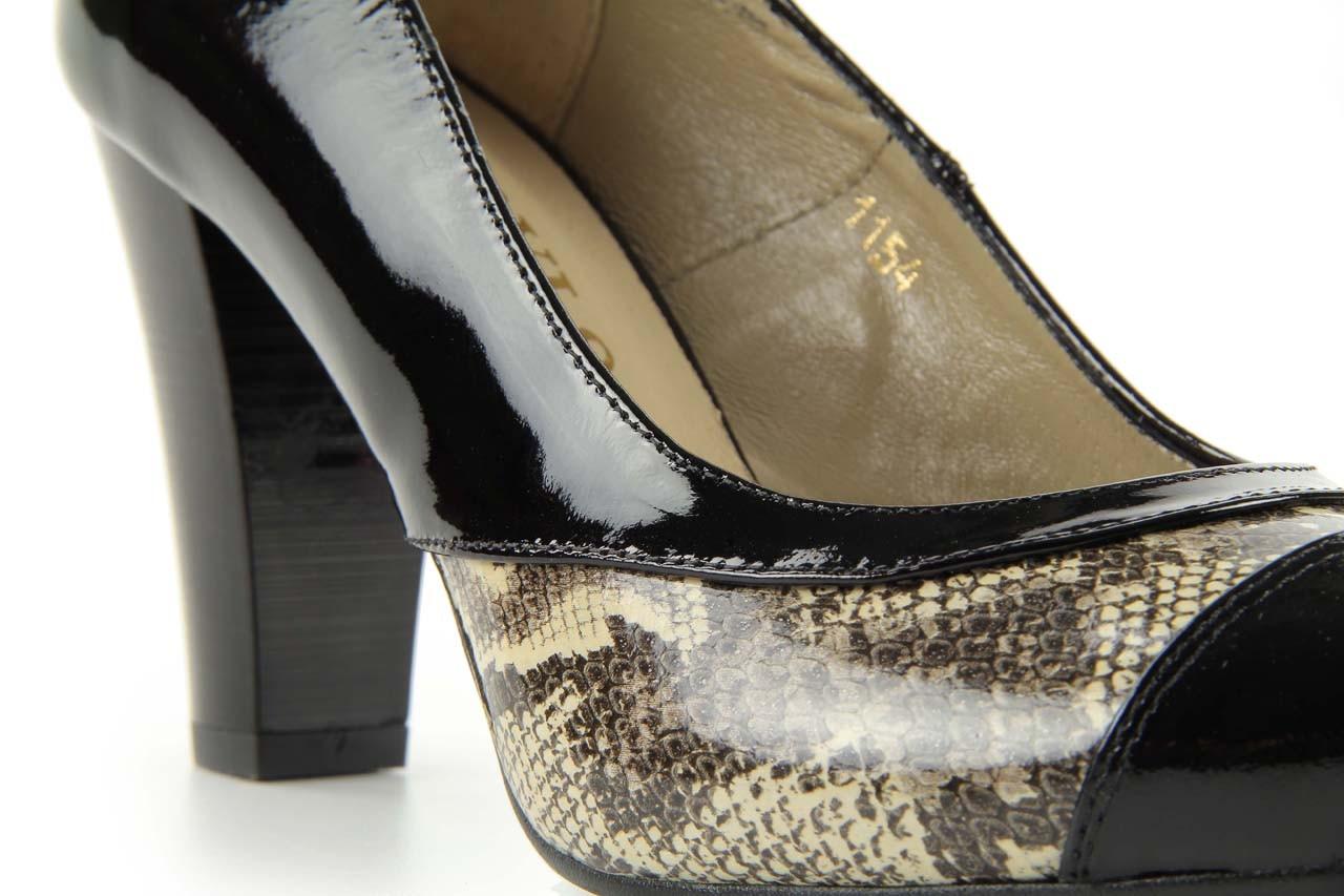 Czółenka bayla-508 1154/1 czarny szary wąż, skóra naturalna lakierowana - bayla - nasze marki 9