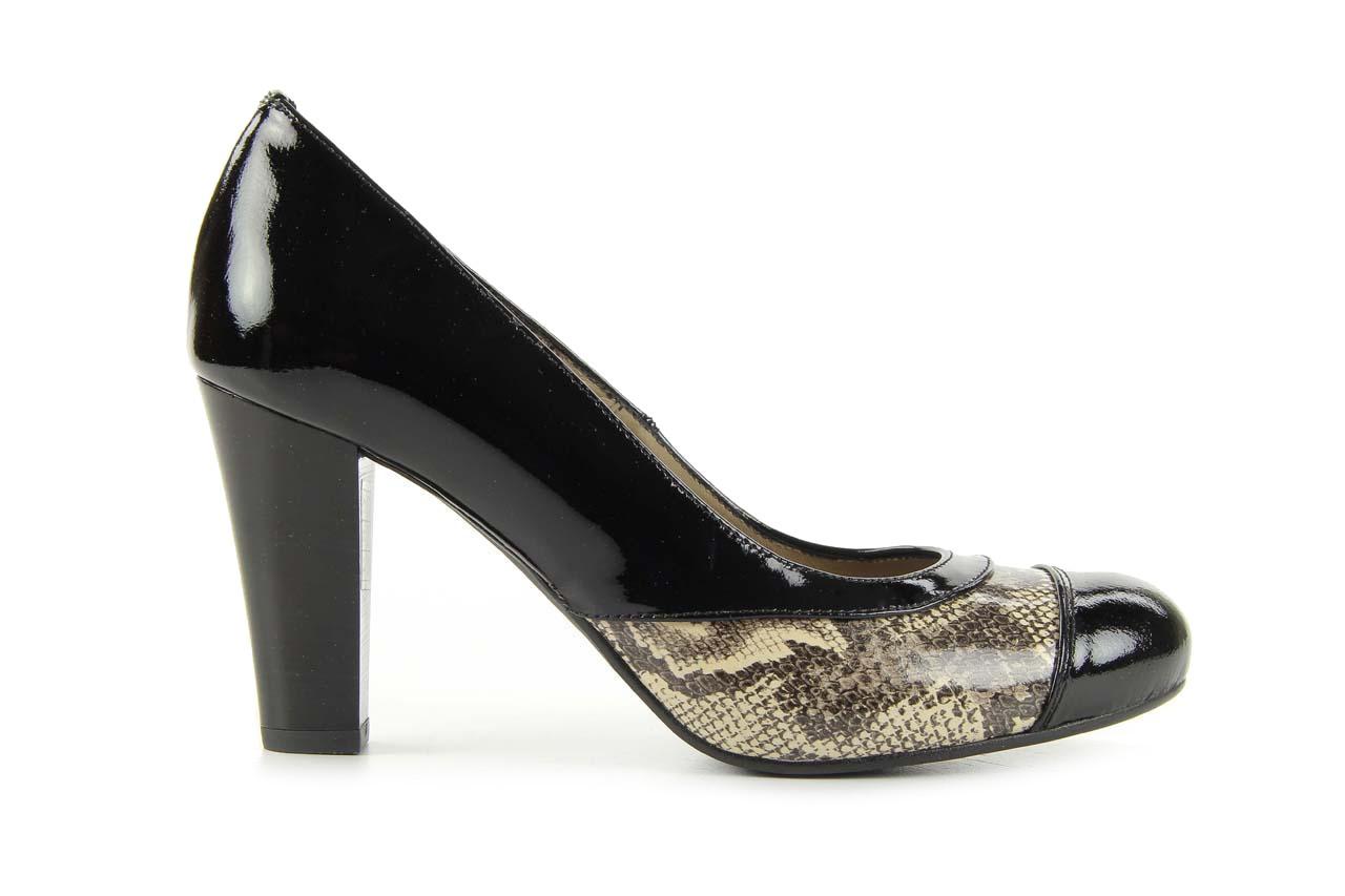 Czółenka bayla-508 1154/1 czarny szary wąż, skóra naturalna lakierowana - bayla - nasze marki 5