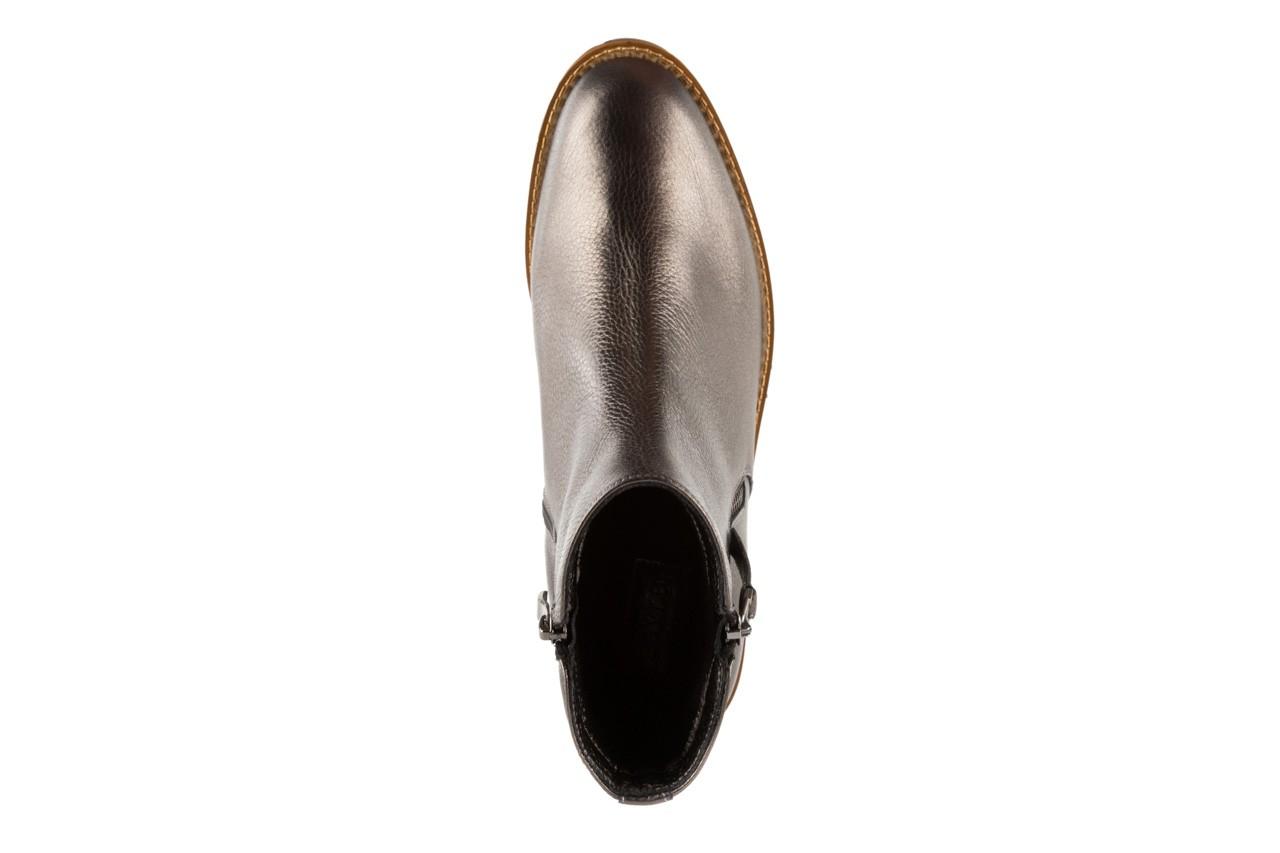 Botki bayla-622 16610 antracyt, braz, skóra naturalna - worker boots - trendy - kobieta 10