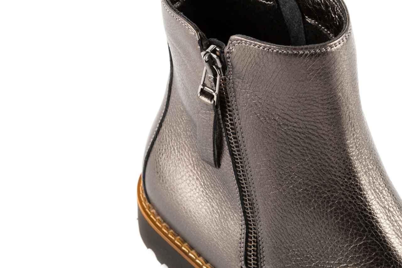 Botki bayla-622 16610 antracyt, braz, skóra naturalna - worker boots - trendy - kobieta 11