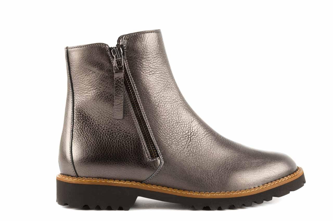 Botki bayla-622 16610 antracyt, braz, skóra naturalna - worker boots - trendy - kobieta 6