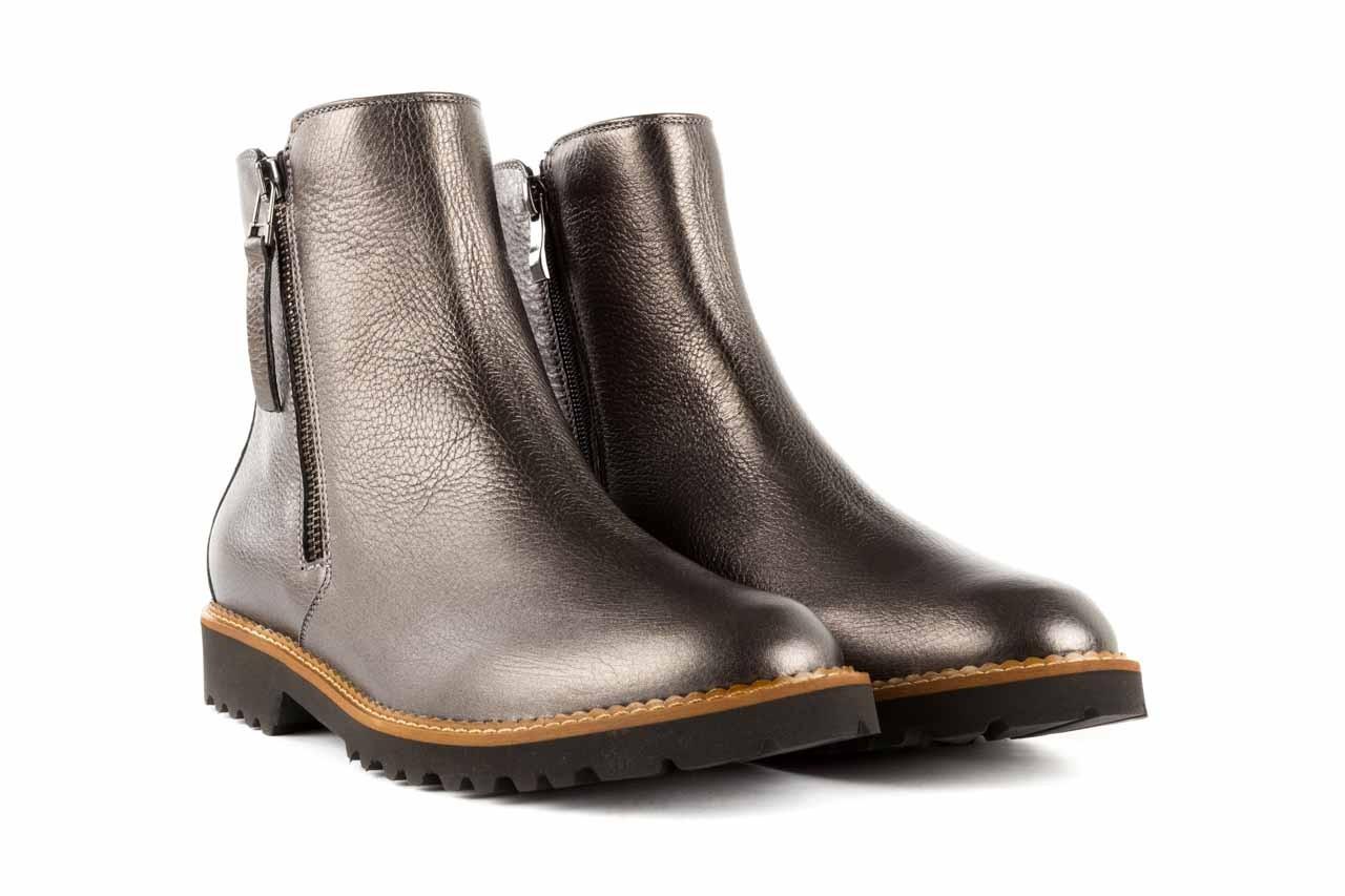 Botki bayla-622 16610 antracyt, braz, skóra naturalna - worker boots - trendy - kobieta 7