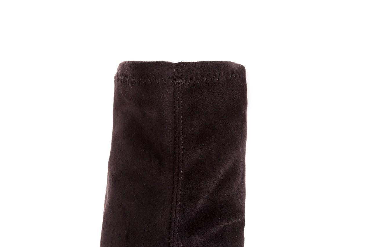 Kozaki bayla-056 9094-730 czarne muszkieterki, materiał - kozaki - dla niej  - sale 11