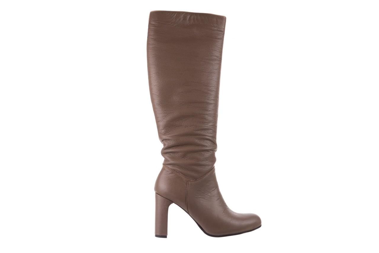 Kozaki bayla-130 4859 ciemnobeżowe, skóra naturalna - kozaki - buty damskie - kobieta 7