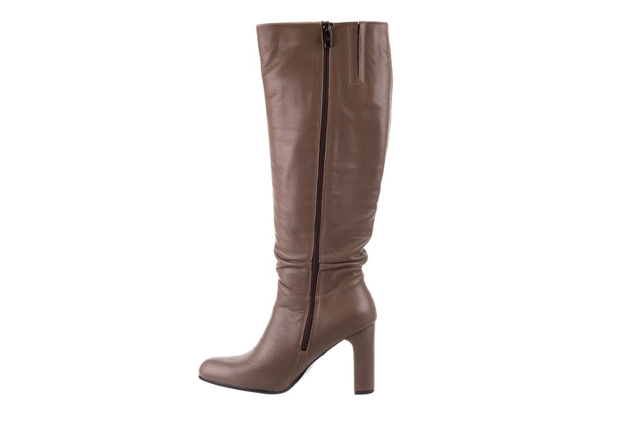 Kozaki bayla-130 4859 ciemnobeżowe, skóra naturalna - kozaki - buty damskie - kobieta 9