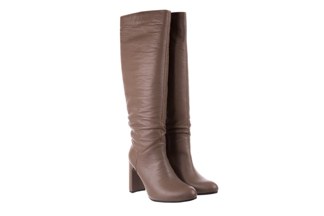 Kozaki bayla-130 4859 ciemnobeżowe, skóra naturalna - kozaki - buty damskie - kobieta 8