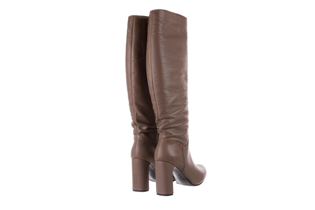 Kozaki bayla-130 4859 ciemnobeżowe, skóra naturalna - kozaki - buty damskie - kobieta 10