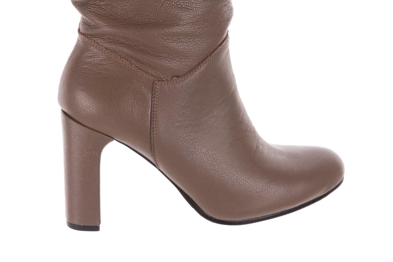 Kozaki bayla-130 4859 ciemnobeżowe, skóra naturalna - kozaki - buty damskie - kobieta 11