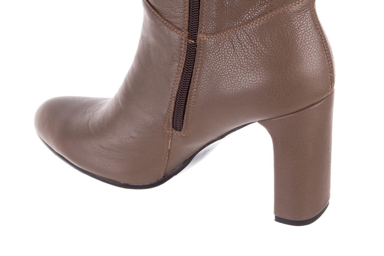 Kozaki bayla-130 4859 ciemnobeżowe, skóra naturalna - kozaki - buty damskie - kobieta 12