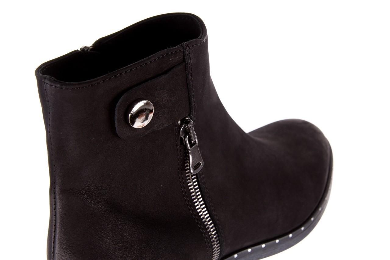 Sztyblety bayla-170 2170 czarne botki, skóra naturalna  - sztyblety - botki - buty damskie - kobieta 14