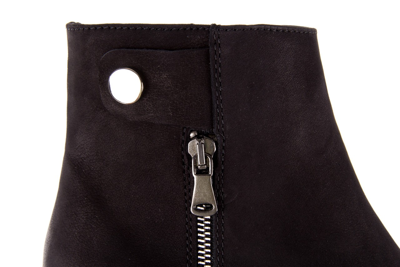 Sztyblety bayla-170 2170 czarne botki, skóra naturalna  - sztyblety - botki - buty damskie - kobieta 15