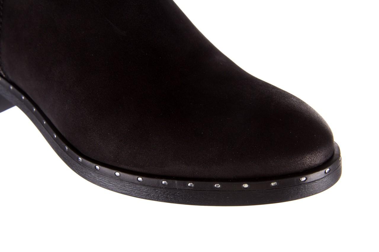 Sztyblety bayla-170 2170 czarne botki, skóra naturalna  - sztyblety - botki - buty damskie - kobieta 13