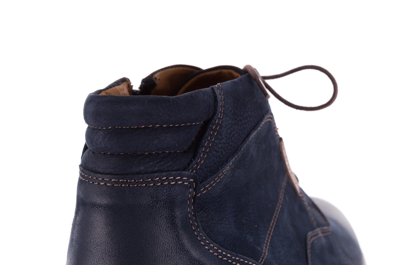 Trzewiki bayla-081 861 granatowe trzewiki, skóra naturalna - trzewiki - buty męskie - mężczyzna 17