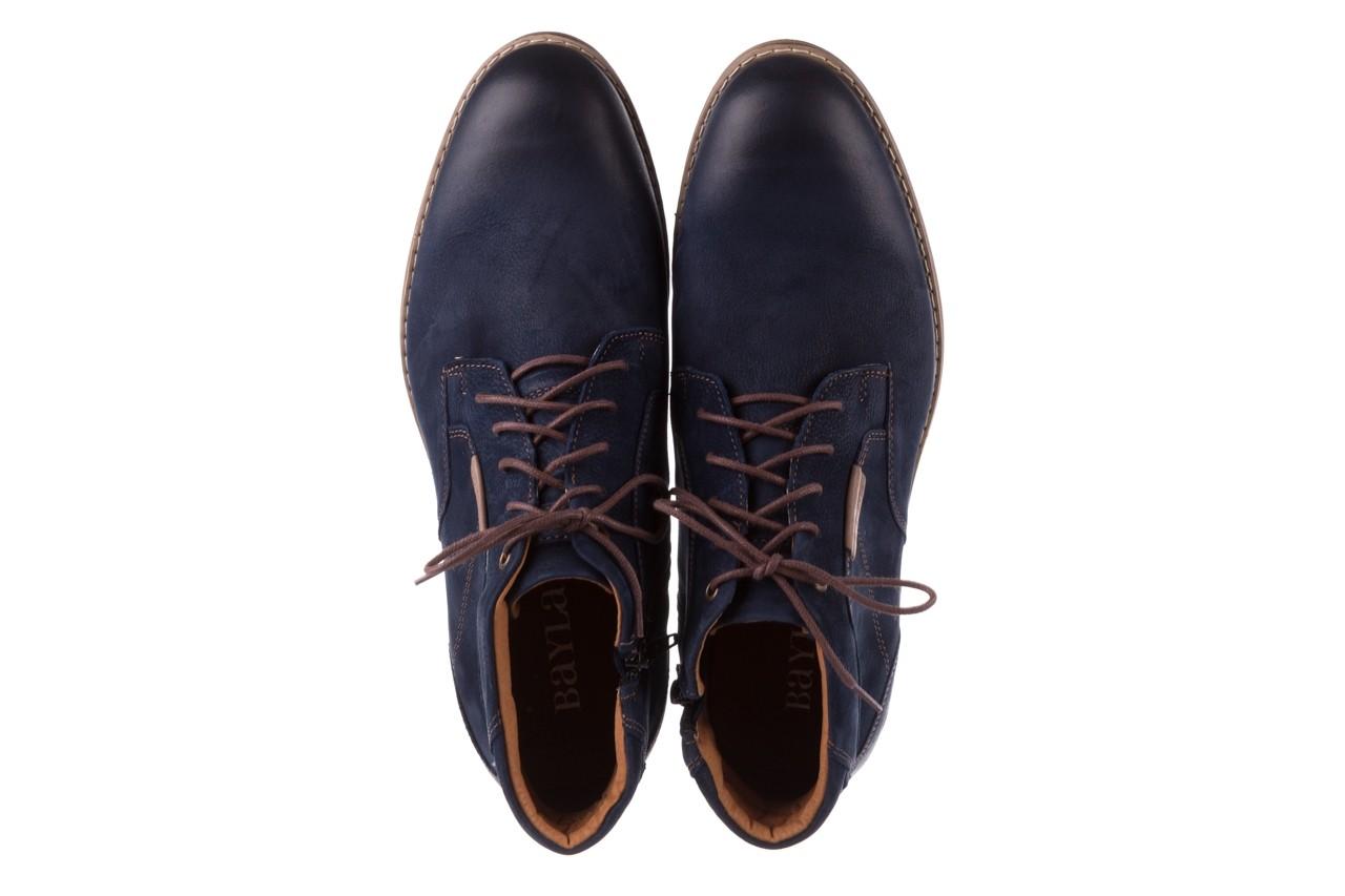 Trzewiki bayla-081 861 granatowe trzewiki, skóra naturalna - trzewiki - buty męskie - mężczyzna 13