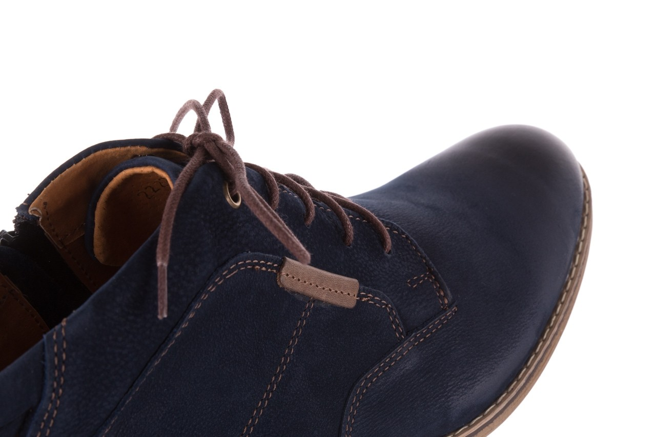 Trzewiki bayla-081 861 granatowe trzewiki, skóra naturalna - trzewiki - buty męskie - mężczyzna 14