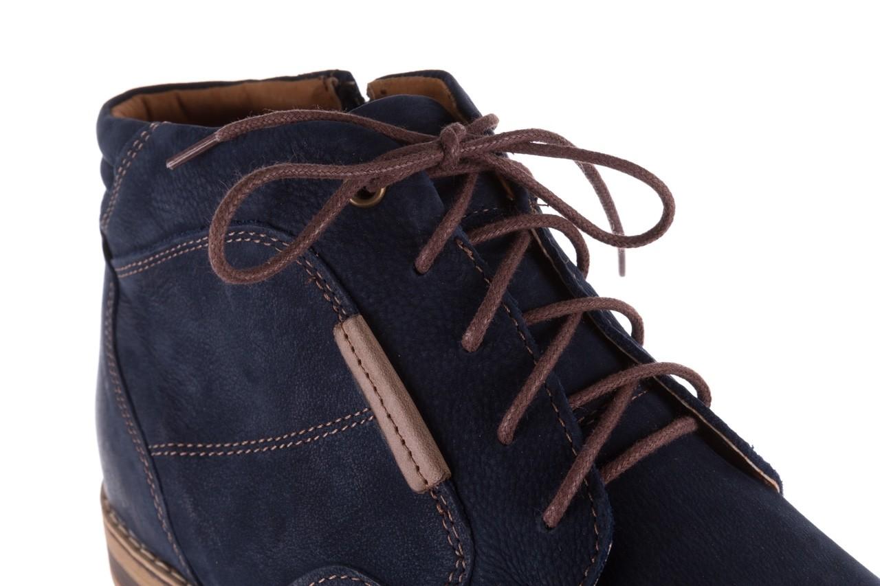 Trzewiki bayla-081 861 granatowe trzewiki, skóra naturalna - trzewiki - buty męskie - mężczyzna 15