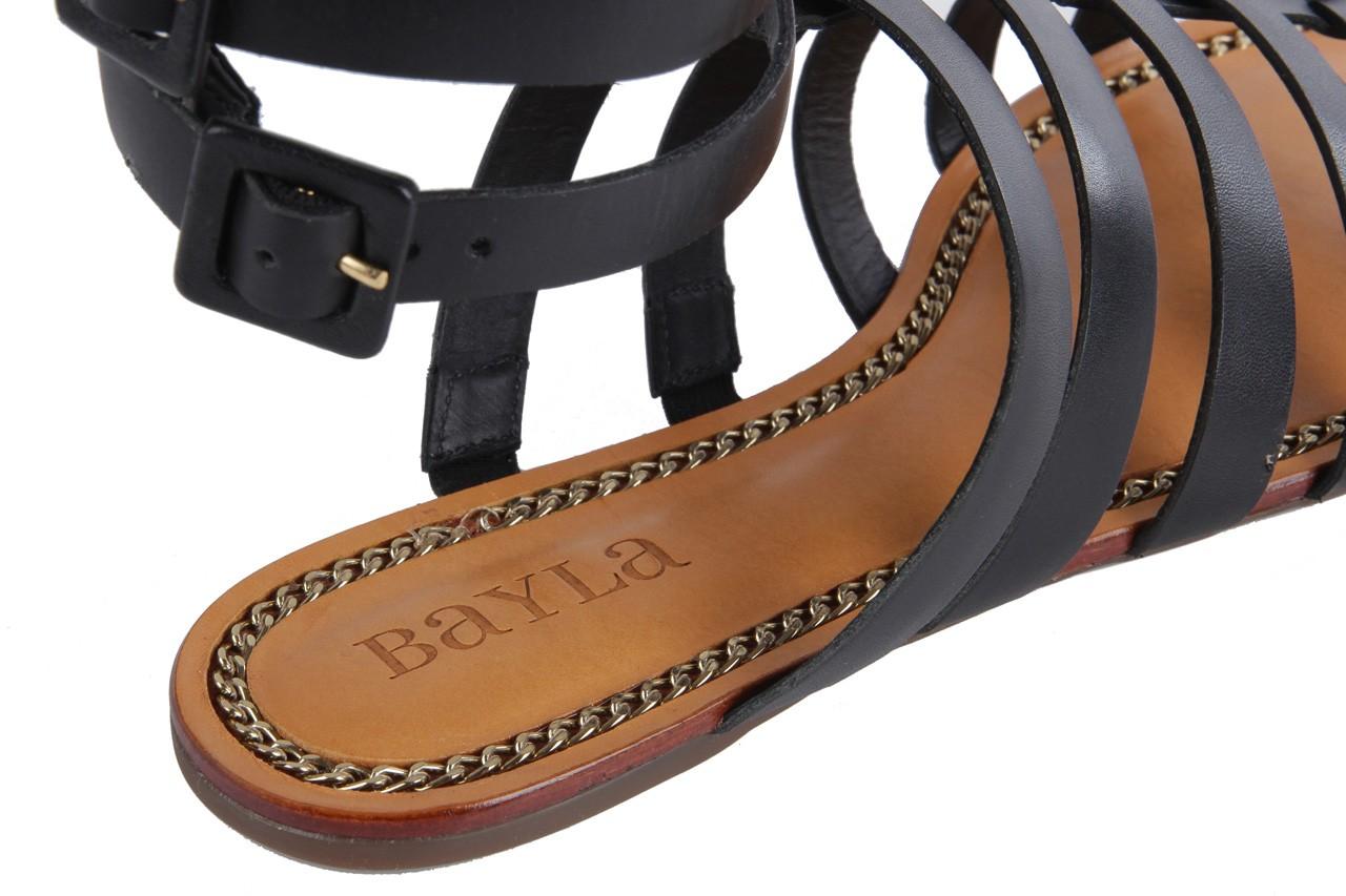 Sandały bayla-cr 120703 vegetal black, czarny, skóra naturalna - bayla - nasze marki 8