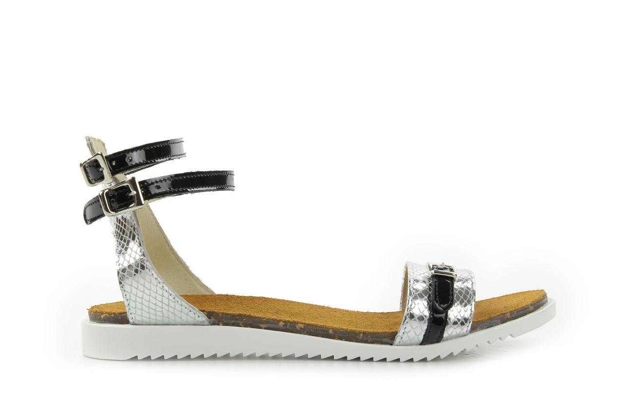 Sandały bayla-cs 423 s srebrno czarny, skóra naturalna - bayla - nasze marki 5