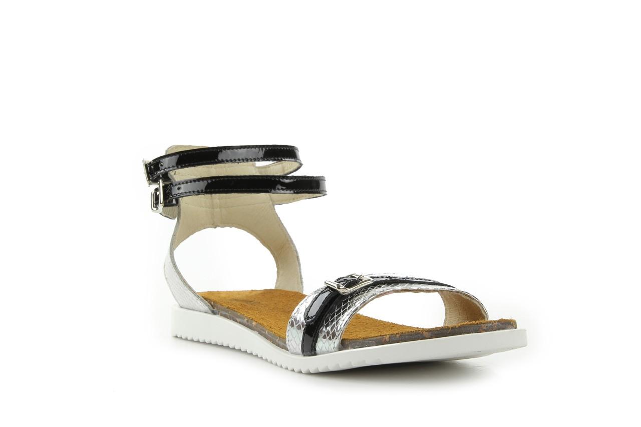 Sandały bayla-cs 423 s srebrno czarny, skóra naturalna - bayla - nasze marki 6