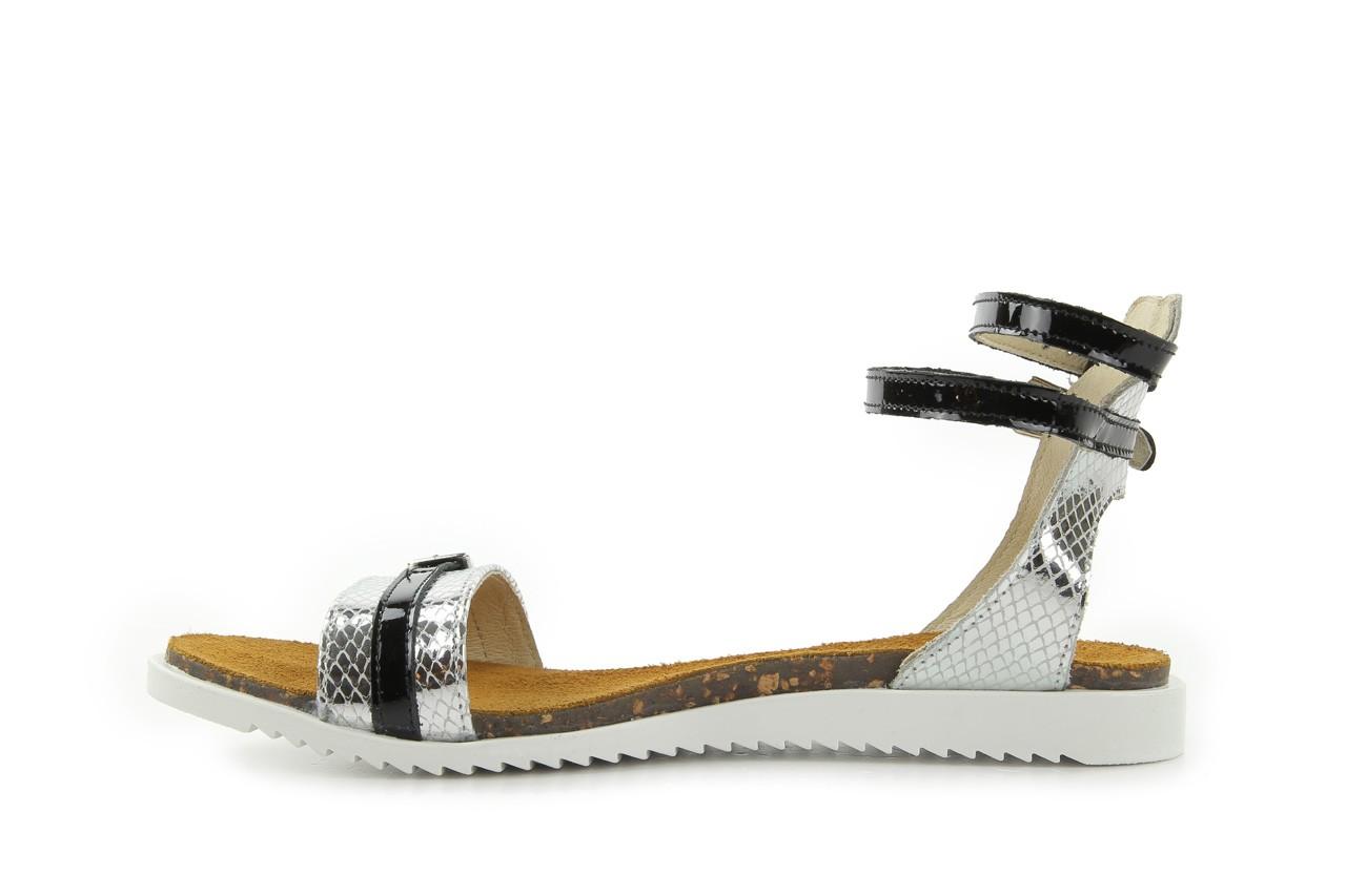 Sandały bayla-cs 423 s srebrno czarny, skóra naturalna - bayla - nasze marki 7