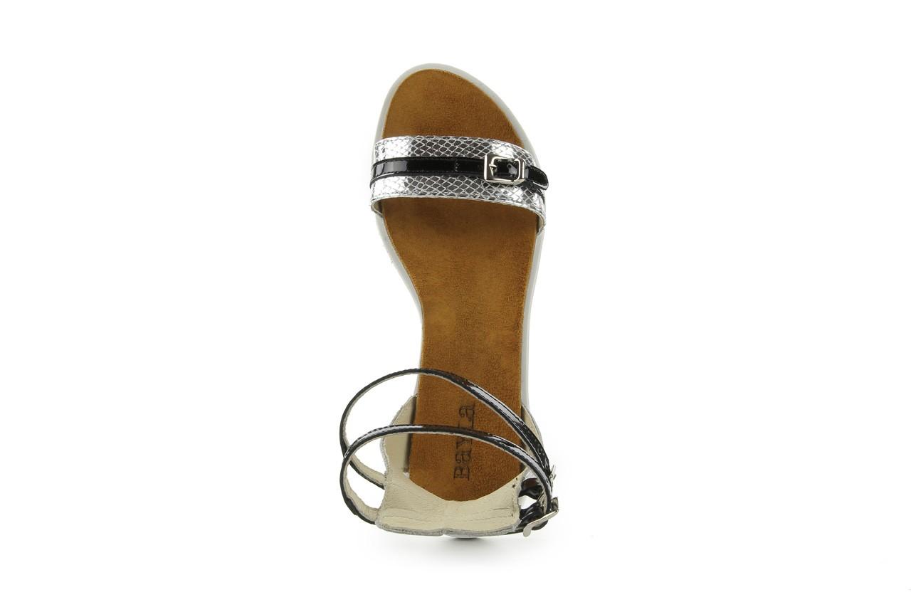 Sandały bayla-cs 423 s srebrno czarny, skóra naturalna - bayla - nasze marki 8