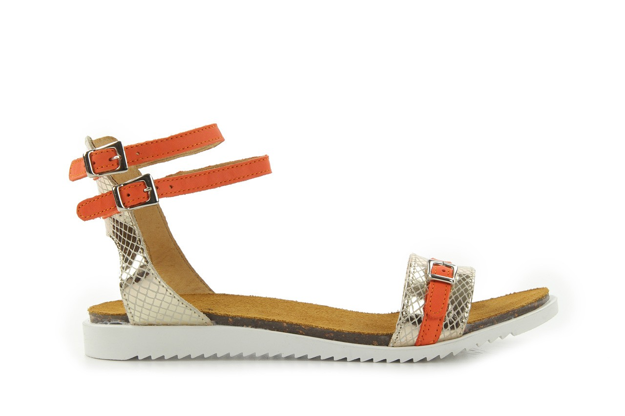 Sandały bayla-cs 423 s złoty pomarańcz, skóra naturalna - bayla - nasze marki 5