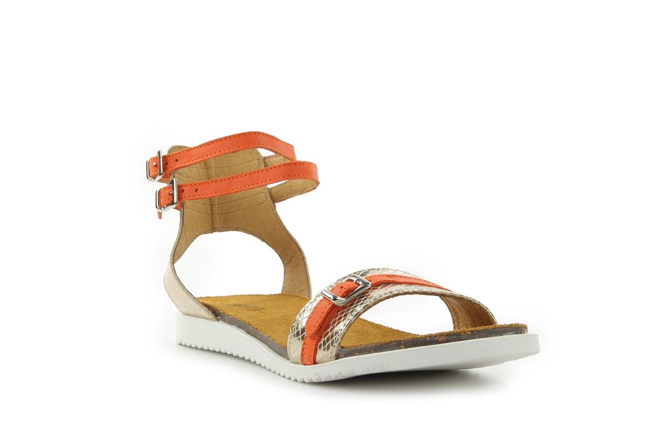 Sandały bayla-cs 423 s złoty pomarańcz, skóra naturalna - bayla - nasze marki 6