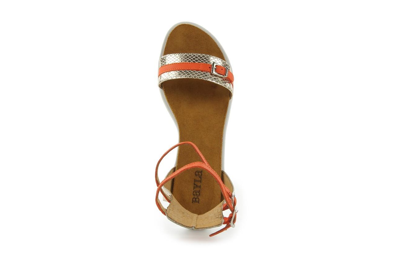 Sandały bayla-cs 423 s złoty pomarańcz, skóra naturalna - bayla - nasze marki 8