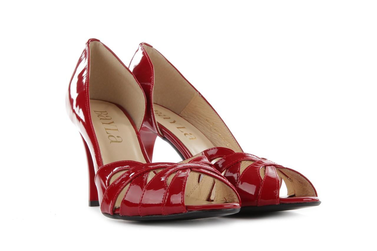 Czółenka bayla-em sl6783-154 czerwony, skóra naturalna lakierowana - bayla - nasze marki 7