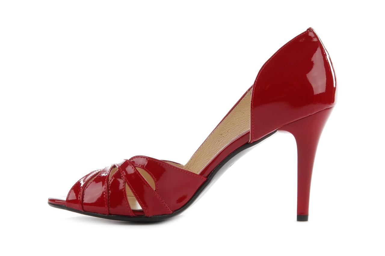 Czółenka bayla-em sl6783-154 czerwony, skóra naturalna lakierowana - bayla - nasze marki 8