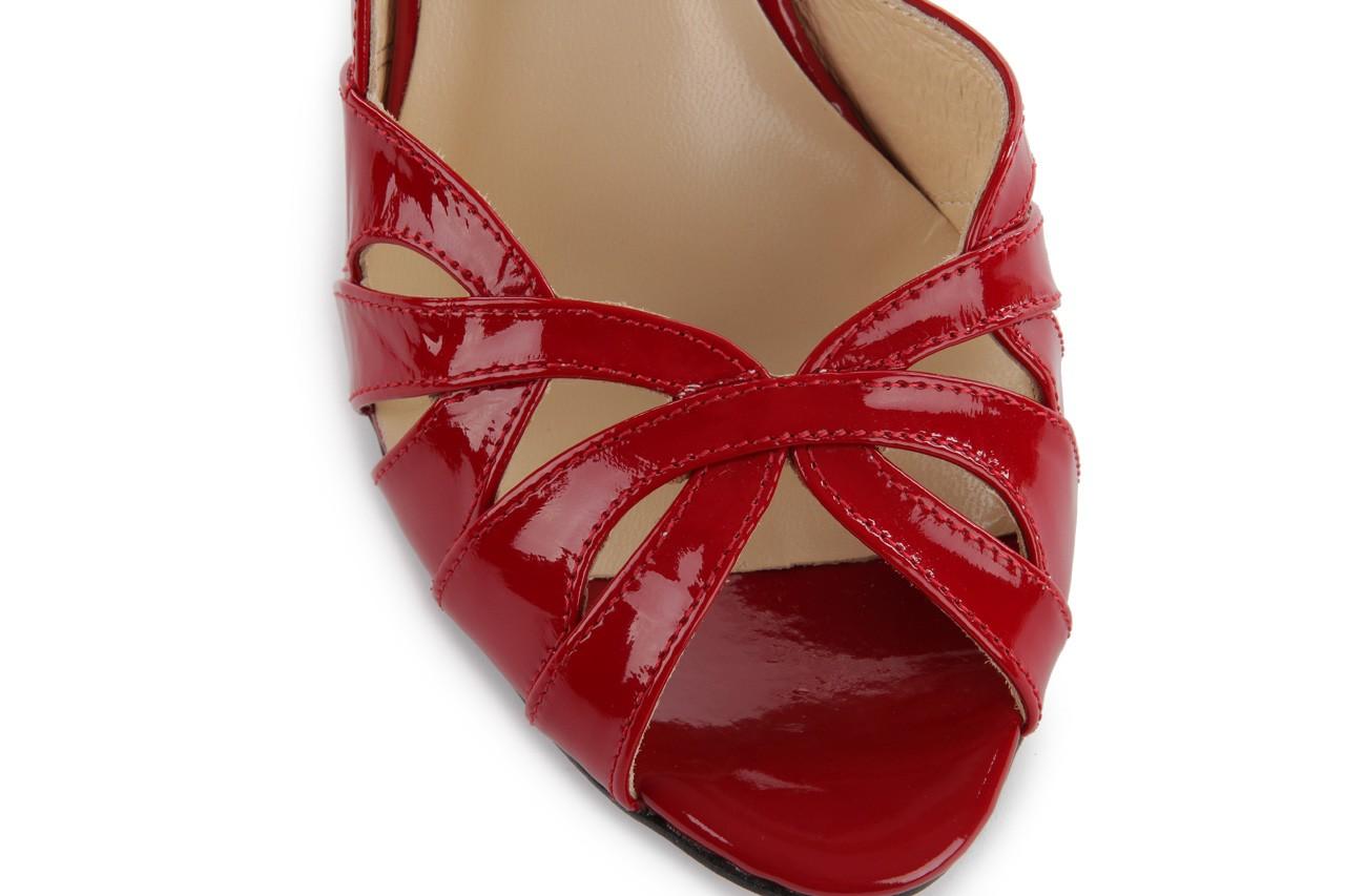 Czółenka bayla-em sl6783-154 czerwony, skóra naturalna lakierowana - bayla - nasze marki 11