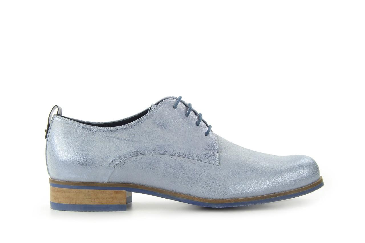 Półbuty bayla-fe 65806 błękitno srebrny-granat, skóra naturalna - na obcasie - półbuty - buty damskie - kobieta 5