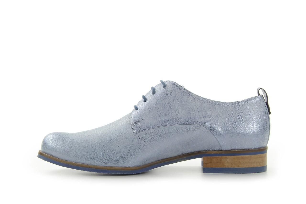 Półbuty bayla-fe 65806 błękitno srebrny-granat, skóra naturalna - na obcasie - półbuty - buty damskie - kobieta 7