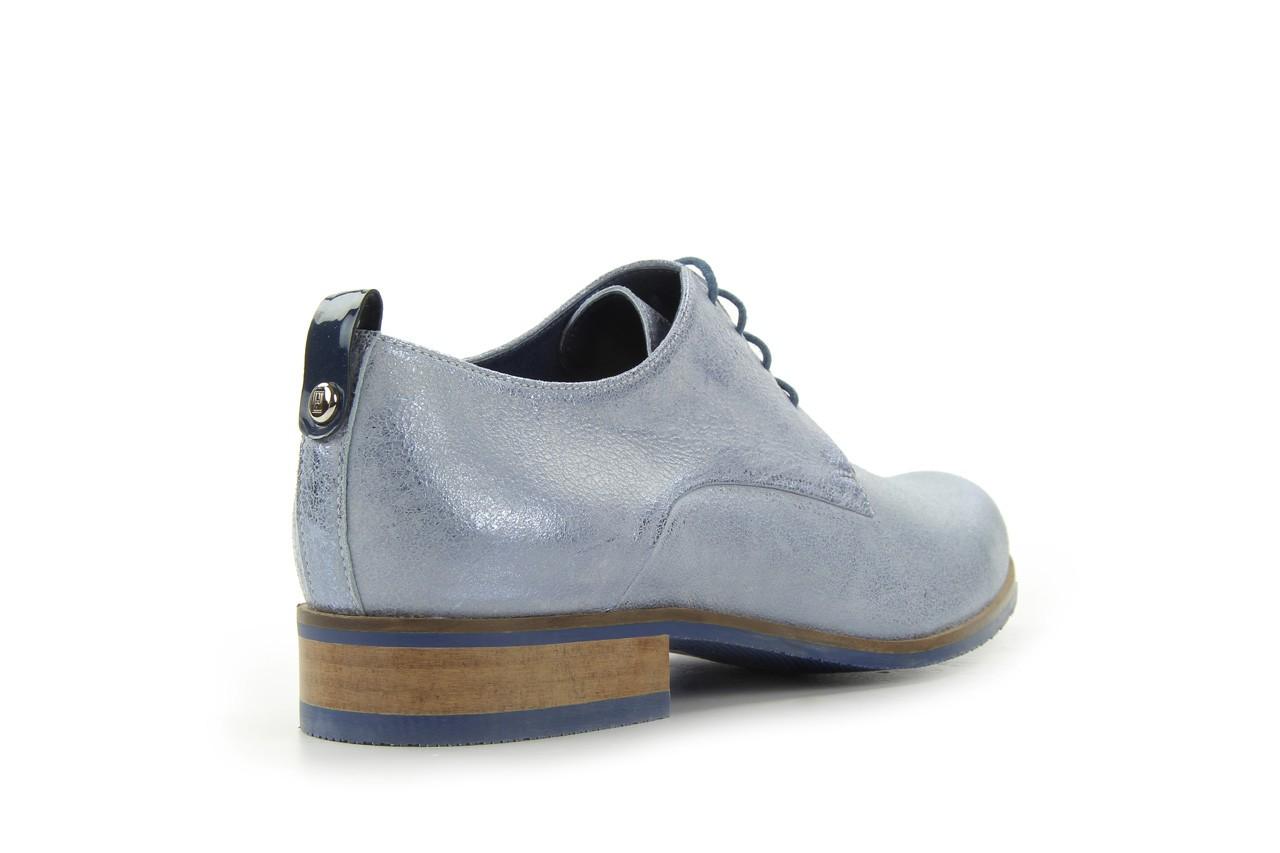 Półbuty bayla-fe 65806 błękitno srebrny-granat, skóra naturalna - na obcasie - półbuty - buty damskie - kobieta 8