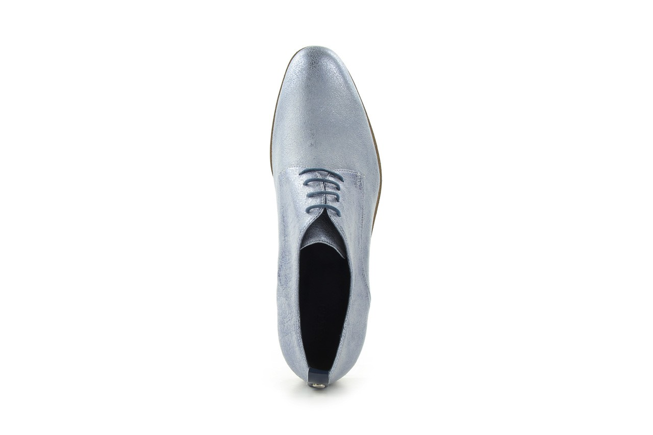 Półbuty bayla-fe 65806 błękitno srebrny-granat, skóra naturalna - na obcasie - półbuty - buty damskie - kobieta 9