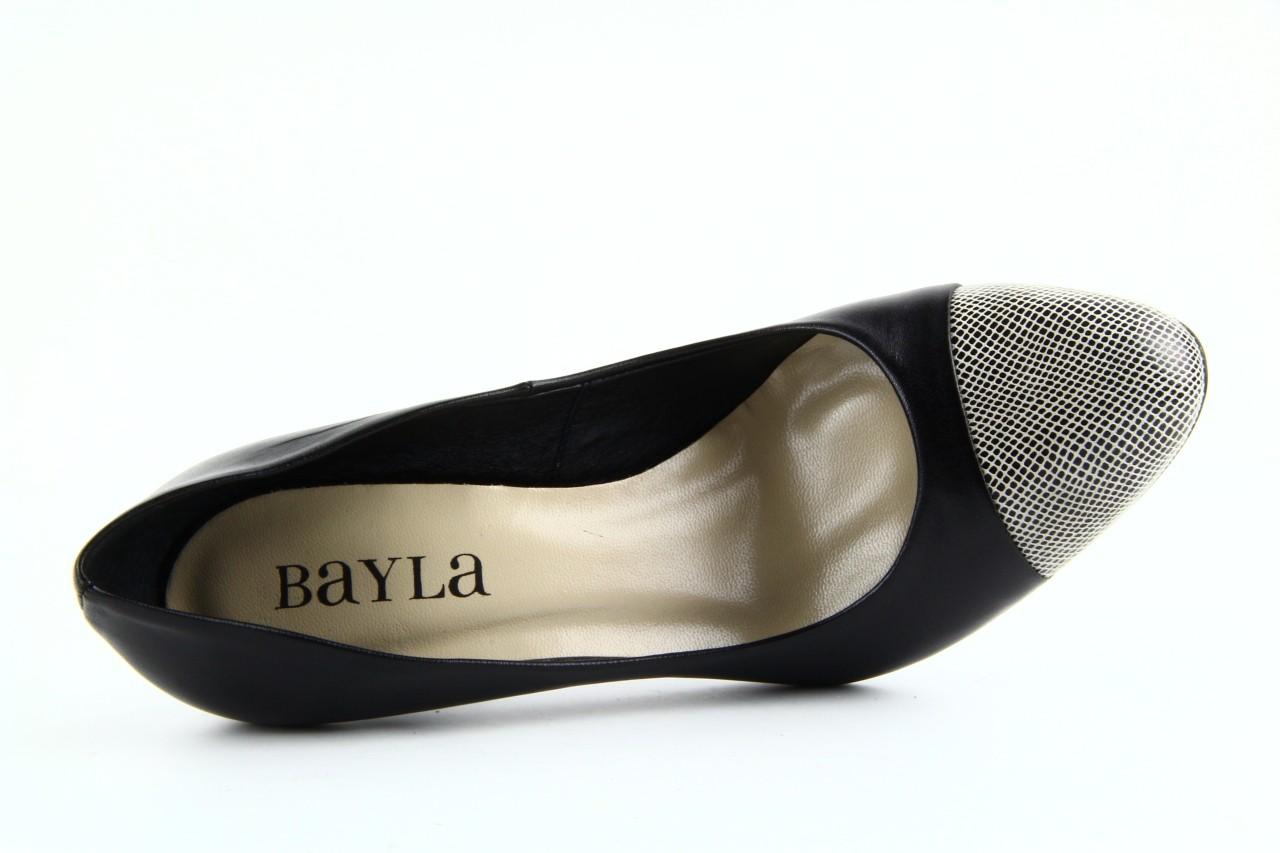 Czółenka bayla-ju 1276 czarny-beż, skóra naturalna - bayla - nasze marki 11