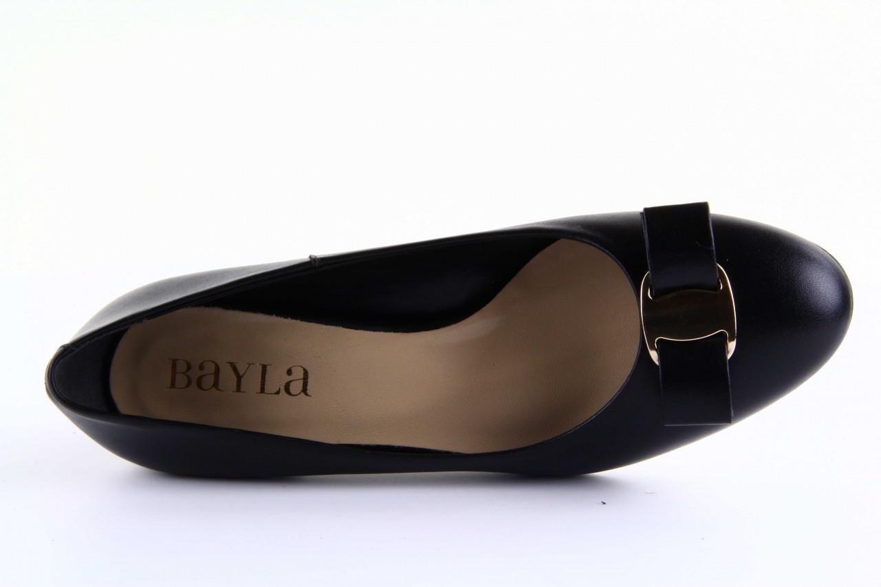 Czółenka bayla-sa 1516-08 czarny, skóra naturalna  - bayla - nasze marki 11