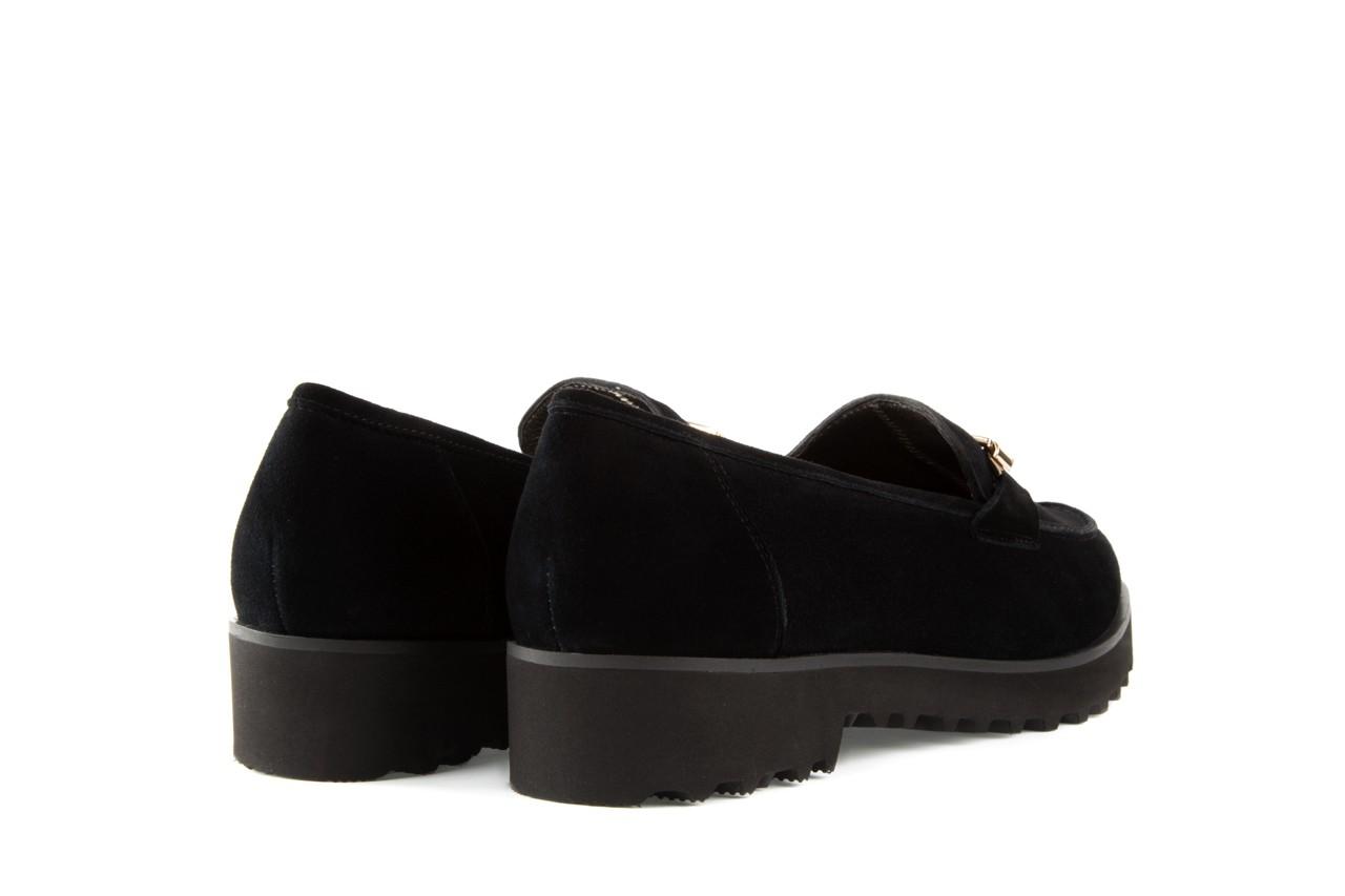 Mokasyny bayla-018 1663-3 black kid suede, czarny, skóra naturalna - bayla - nasze marki 8