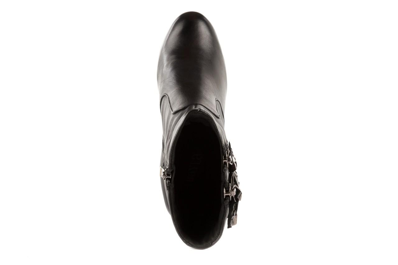 Botki bayla-106 4212001 black, czarny, skóra naturalna - biker - botki - buty damskie - kobieta 10