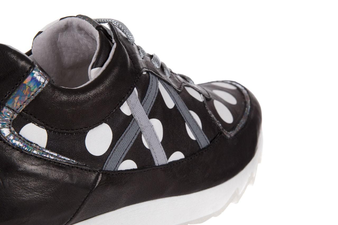 Sneakersy bayla-131 8407 nero, czarny, skóra naturalna  - bayla - nasze marki 11